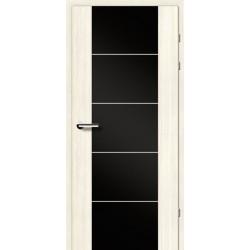 Двері Brama 17.3М / Екоцел / Чорне скло