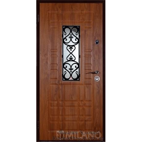 Конструкція Джента вхідних дверей тм Milano