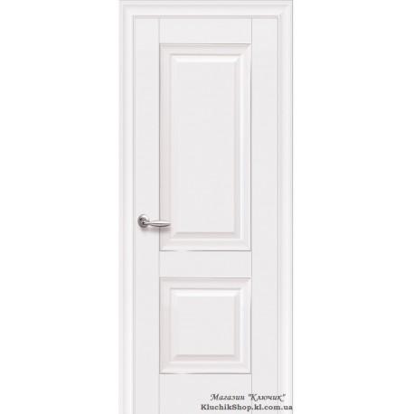 Двері Імідж / Суцільні з молдингом / Декор білий матовий