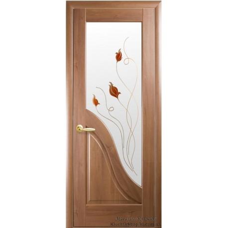 Двері Новий стиль / Амата / Декор вільха золота