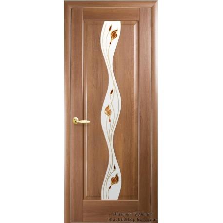 Двері Новий стиль / Волна / Декор вільха золота