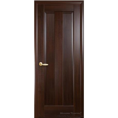 Двері Прем'єра / Суцільні / Декор каштан