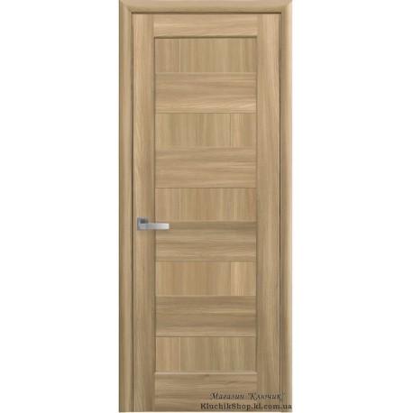 Двері Піана / Суцільні / Декор дуб золотий / Покриття ПВХ-Deluxe