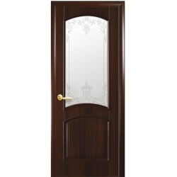Двері Антре / Скло сатин та мал. Р3