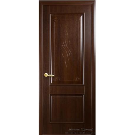 Двері Вілла / ПВХ-Deluxe / Декор каштан