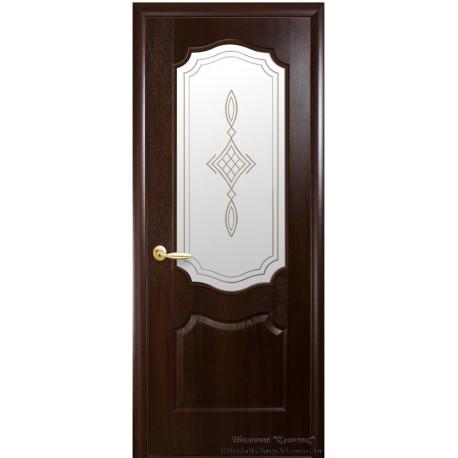 Двері Вензель / ПВХ-Deluxe / Декор каштан