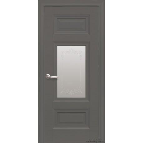 Двері Шарм / Скло сатин та мал. Р2 / Декор антрацит