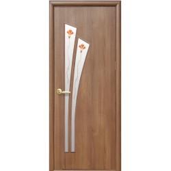 Двері Лілія / Скло сатин та мал. Р1 / Декор золота вільха