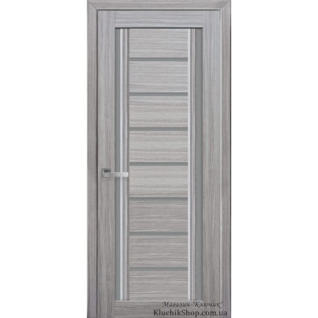 Двері Флоренція / Скло графіт / Декор перлина срібна / Покриття смарт