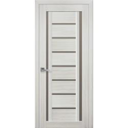 Двері Флоренція / Скло бронза / Декор перлина біла / Покриття смарт