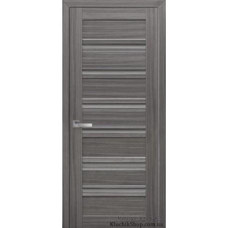 Двері Венеція С1 / Скло графіт / Декор перлина графіт / Покриття смарт