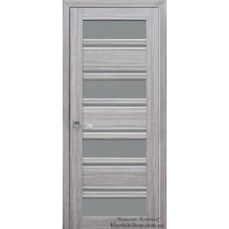 Двері Венеція С2 / Скло графіт / Декор перлина срібна / Покриття смарт