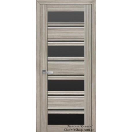 Двері Венеція С2 / Чорне скло / Декор перлина магіка / Покриття смарт
