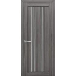 Двері Верона С1 / Скло графіт / Декор перлина графіт / Покриття смарт