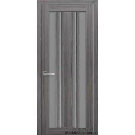 Двері Верона С2 / Скло графіт / Декор перлина графіт / Покриття смарт