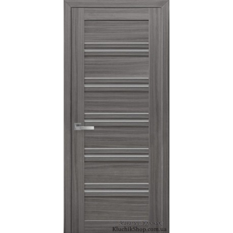 Двері Віченца С1 / Скло графіт / Декор перлина графіт / Покриття смарт