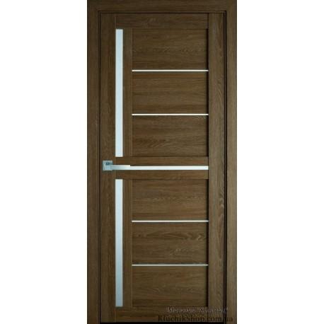 Двері Діана / ПВХ-Ультра / Скло сатин / Декор дуб медовий