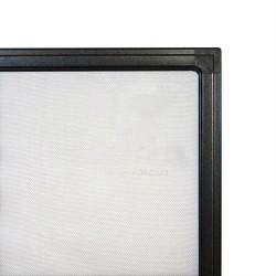 Москитна сітка віконна. Коричневий профіль.