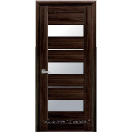 Двері Лілу / Скло сатин / Екошпон / Декор Венге Brown