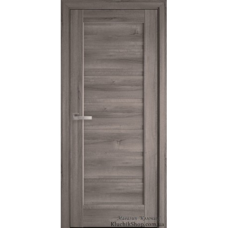 Двері Ліннея / Суцільне / Декор Бук попелястий  / Покриття ПВХ де люкс