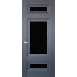 Двері CL-4 ПО / Чорне скло