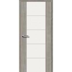 Двері Brama 17.3М / Екоцел / Біле скло