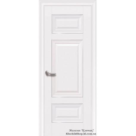 Двері Шарм / Покриття преміум / Суцільні з молдингом / Декор білий матовий