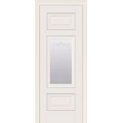 Двері Шарм / Скло сатин, молдинг та мал. Р2 / Декор магнолія