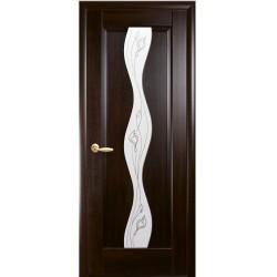 Двері Новий стиль / Волна / Декор каштан