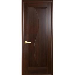 Двері Ескада / Покриття ПВХ-Deluxe / Суцільні / Декор каштан