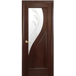 Двері Пріма / Скло сатин та мал. Р2