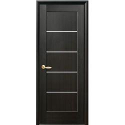 Двері Міра / Скло сатин/ Декор венге / Покриття ПВХ-Deluxe