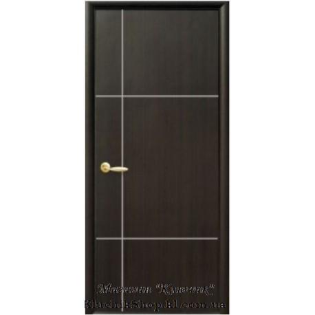 Двері Ніка Silver / ПВХ-Deluxe / Декор венге