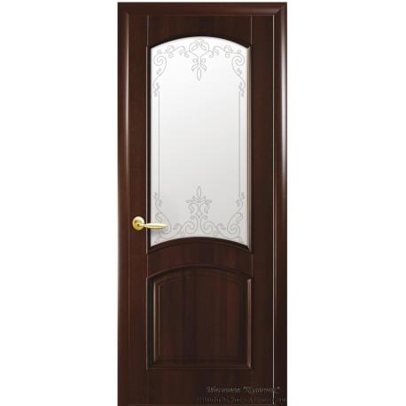 Двері Антре / ПВХ-Deluxe / Декор каштан