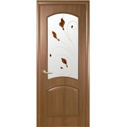 Двері Антре / Скло сатин та мал. Р1