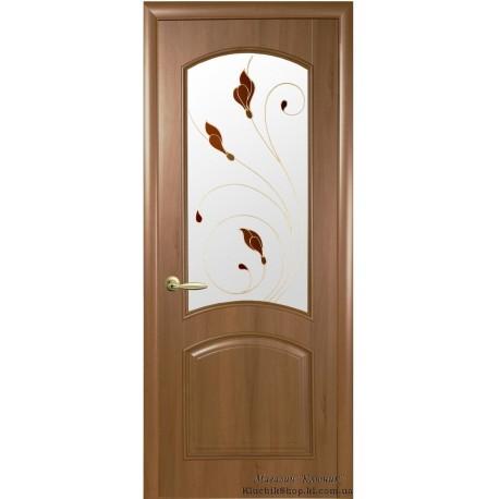 Двері Антре / ПВХ-Deluxe / Декор вільха золота