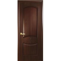 Двері Донна / ПВХ-Deluxe / Декор каштан