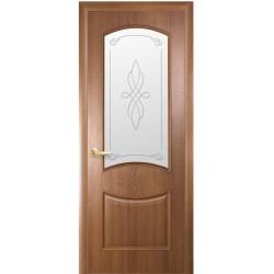 Двері Донна / Скло сатин та мал. Р1