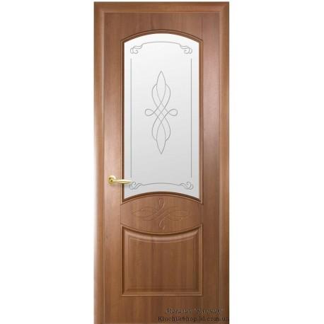 Двері Донна / ПВХ-Deluxe / Декор вільха золота