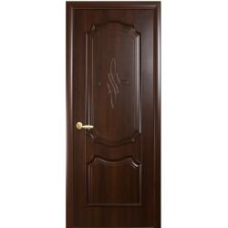 Двері Рока / ПВХ-Deluxe / Декор каштан