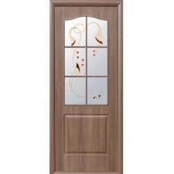 Двері Класік / ПВХ-Deluxe / Декор золота вільха