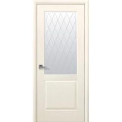 Двері Епіка / Скло сатин та мал. Р2 / Декор патина