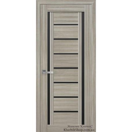 Двері Флоренція / Чорне скло / Декор перлина магіка / Покриття смарт