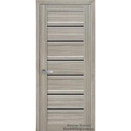 Двері Венеція С1 / Чорне скло / Декор перлина магіка / Покриття смарт
