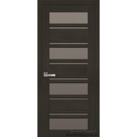 Двері Венеція С2 / Скло бронза / Декор перлина кавова / Покриття смарт
