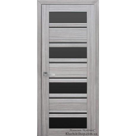 Двері Венеція С2 / Чорне скло / Декор перлина срібна / Покриття смарт