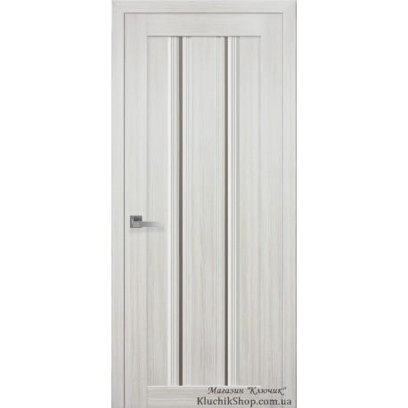 Двері Верона С1 / Скло бронза / Декор перлина біла / Покриття смарт
