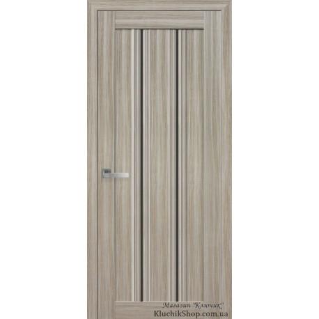 Двері Верона С1 / Чорне скло / Декор перлина магіка / Покриття смарт