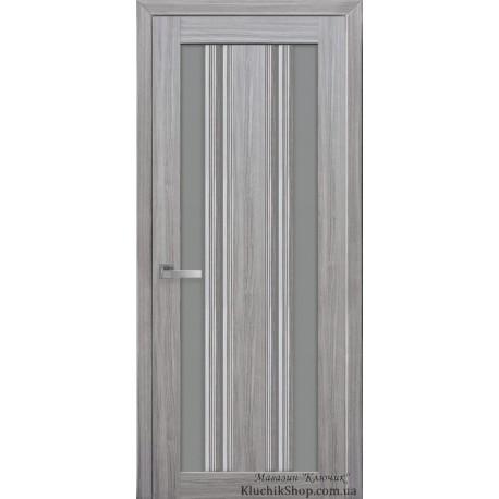 Двері Верона С2 / Скло графіт / Декор перлина срібна / Покриття смарт