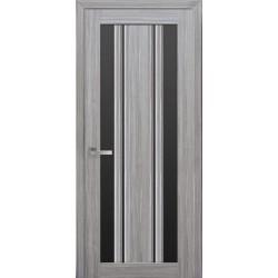 Двері Верона С2 / Чорне скло / Декор перлина срібна / Покриття смарт